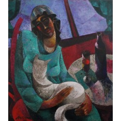 """Arshak Nersisyan """"A woman with a cat"""""""