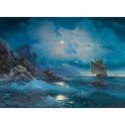 "Gevorg Saghatelyan ""Lunar night at the sea"""